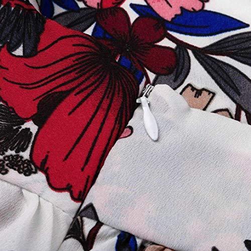 Blanc Femmes Pièce Moulante 8 Culotte White Large S Bande Mini En Vacances Plage Uk Femmes De Casual Blanc Eté Zhrui Sexy Pour Court 6 Une Florales Combinaisons couleur Taille Court Peplum ZAn7qUWwI