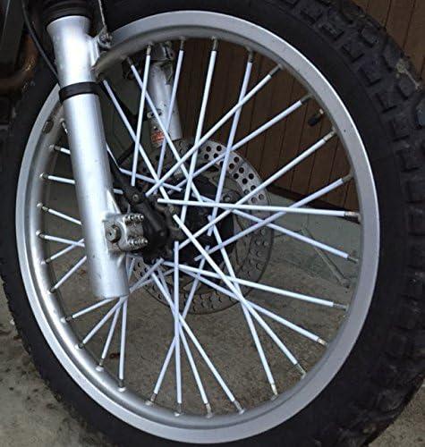 72pcs Spoke Skins Spoke Tubes Spoke Cover Razze Rivestimento Per Moto /& Bicicletta Arancione