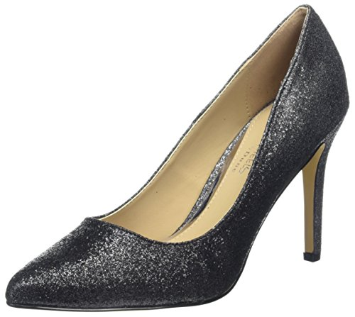 Avandra Fermé Over Bout black Femme Escarpins Heels Head metallic Black ESfwxCqCU