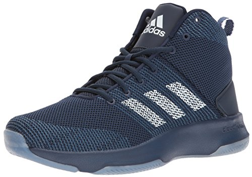 adidas Neo Men's CF executor Mid Basketball-Shoes, Collegiate Navy/White/Mystery Blue, 11 Medium US