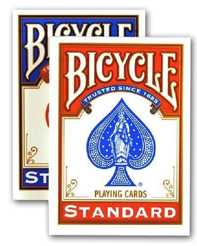 4 Jeux BICYCLE Format Poker (2 Bleus / 2 Rouges) by USPCC