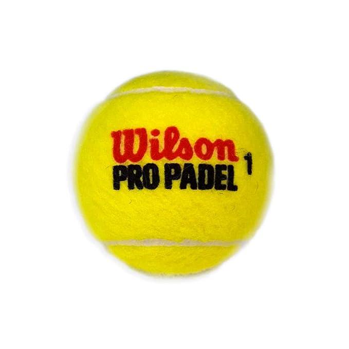 Wilson Pro Padel - Pelotas Bote de pádel, 3 Unidades: Amazon ...