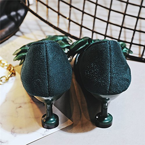Della Punta Verde Strappointed Eccellente Sexy Arco Della Frist Pompa Tallone Caviglia nwCnq1S7x