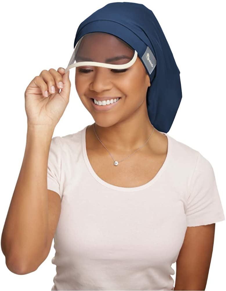 Hairbrella XL Women's Rain Hat, Waterproof, Sun Protection, Satin-Lined, Packable, for Voluminous and Long Hair (Teal, XL): Clothing