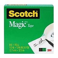 "Scotch Magic Tape, 3/4 x 1296"", Boxed, 1 Roll, 810 (T9641810)"