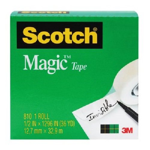 Scotch Magic Tape, Versatile, 3/4 x 1296 Inches, Boxed, 1 Roll, 810 (T9641810) -  3M Office Products