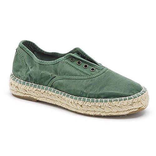 Sneakers Tissu Natural Noir World 687E Vert CwnR5aq