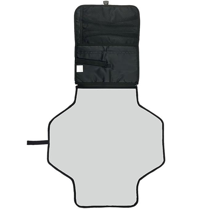 Portátil cambiador mats-welkey Baby Travel para cambio de pañales Pad con almacenamiento impermeable cambiar pañal Mat mantener bebé limpio y seguro: ...