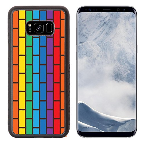 Liili Premium Samsung Galaxy S8 Plus Aluminum Backplate Bumper Snap Case ID: 23283900 bricks laying and painted with rainbow colors seamless - Painters Reviews