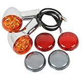 XMT-MOTO New Rear Turn Signals Lights Indicator Amber fits for Harley Davidson XL883 XL1200 Sportster 1992-up