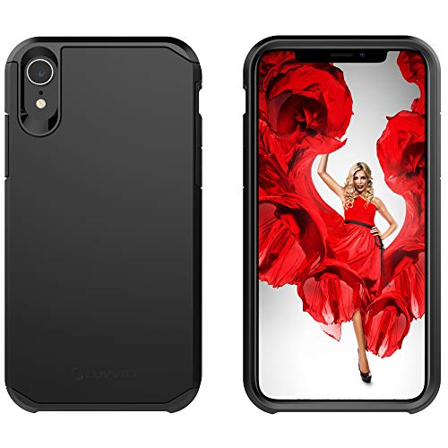 Luvvitt iPhone XR Case Ultra Armor Cover with Dual Layer Heavy Duty Protection for iPhone XR (2018) 10R 6.1 inch Screen - Black