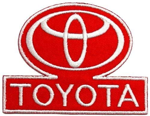 Toyota Motorsport Racing Team Red-White Car DIY Embroidered Patch 2.4