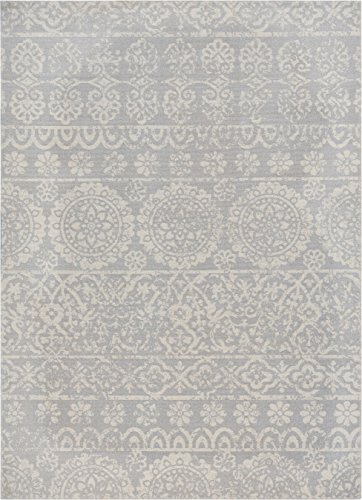 Well Woven Firenze Dorothea Modern Vintage Mosaic Tile Work Distressed Grey Area Rug 3'3