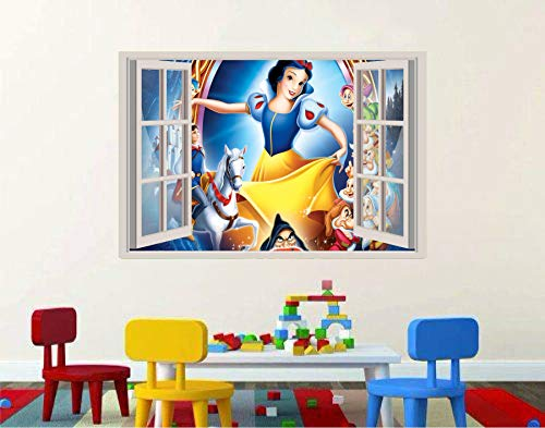 Snow White and the seven dwarfs 3D Window View Decal Graphic WALL STICKER Art Mural 18