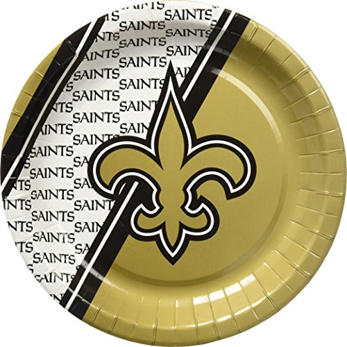 NFL New Orleans Saints Disposable Paper Plate - Outlet New Orleans