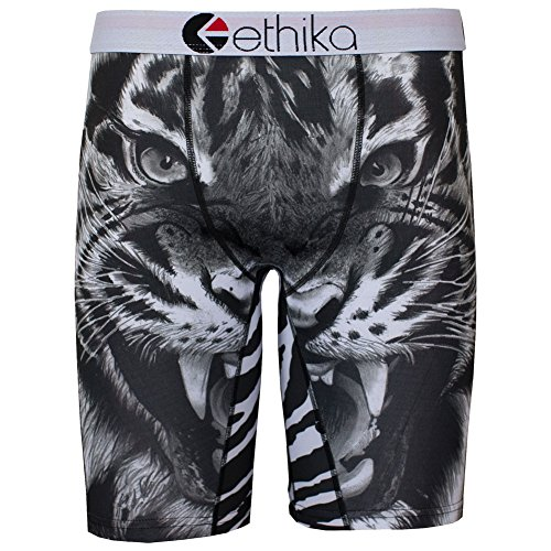 Ethika Men's The Staple Tiger Boxer Brief Underwear Black L