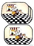 bistro chef kitchen mat - Placemat Set 4 Pcs Fat French Chef Kitchen Place Mats Placemats Bistro Decor
