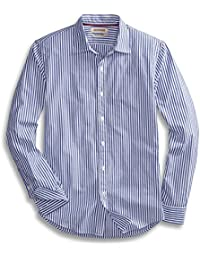 Men's Slim-Fit Long-Sleeve Banker Striped Shirt