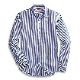 Men's Slim-Fit Long-Sleeve  Striped Shirt