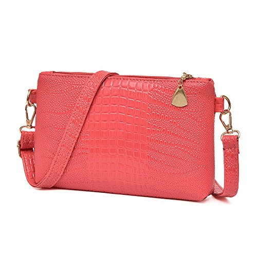 Small Ladies Crocodile Shoulder Fashion ZOMUSA Red Clearance Pattern Purse Bag Watermelon Women Handbag Tote xFSv48q