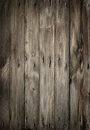 KSZUT 5x7ft Retro Brown Wood Photo Background Vinyl Wooden Wall Photography Backdrop Studio Props 1-17