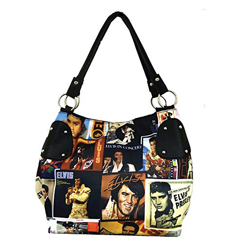 Elvis Presley Lifetime Collage Purse - Microfiber w/Leather Look Accents