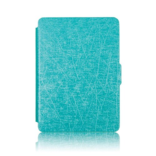 Price comparison product image GBSELL Magnetic Auto Sleep PU Leather Cover Case For 2016 Kindle Paperwhite (7th Generation) 6 inch +Free Gift (Sky Blue)