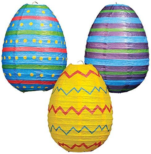 Beistle Easter Egg Paper Lanterns, 10-Inch, Multicolor ()