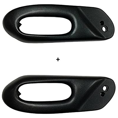 C5 CORVETTE LEFT + RIGHT POWER SEAT SWITCH BEZEL TRIM BLACK FITS 97 thru 04 CORVETTES: Automotive
