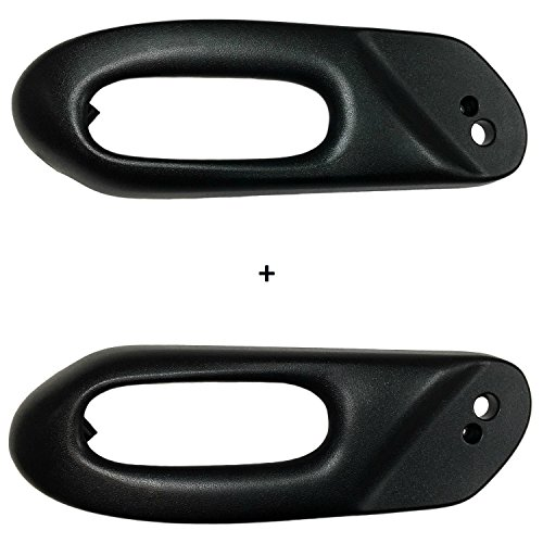 C5 CORVETTE LEFT + RIGHT POWER SEAT SWITCH BEZEL TRIM BLACK FITS 97 thru 04 CORVETTES