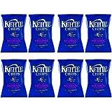 Kettle Chips Patatas Fritas con Vinagre - Paquete de 8 x 150 gr - Total:
