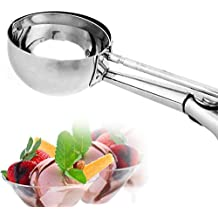 Ice Cream Scoop, MAGICYOYO Stainless Steel Trigger Cookie Scoop Spoon (Large)