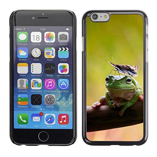 """Premio Sottile Slim Cassa Custodia Case Cover Shell // V00003325 les grenouilles et les papillons // Apple iPhone 6 6S 6G 4.7"""""""
