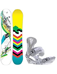 DC Ply 150 Womens Snowboard + Sapient Zeta Bindings Fits US Wms Boots Sized: 6,7,8,9,10 by DC