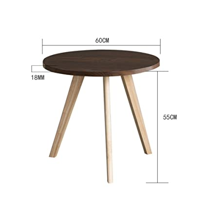 Tavolo In Legno Tondo.D L Legno Massello Tondo Tavolino Da Salotto Impermeabile