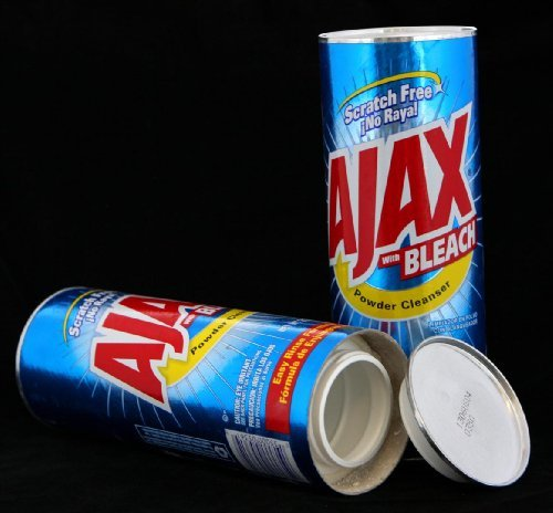 Ajax Powder Cleaner Safe Can Diversion Container+Free Pack of 1 1/4 Rasta Wrap by Ajax