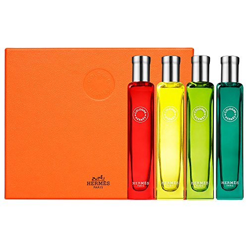 Hermes Box - HERMES Colognes Collection Travel Set 4 x 0.5 FL.OZ. / 15 mL Factory Sealed in Plastic Retail Box