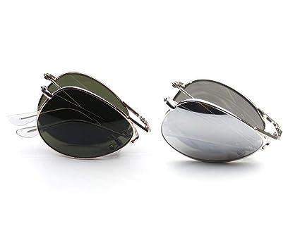 Amazon.com: 2 pares de gafas de sol plegables de metal ...