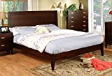 Crystal Lake Brown Cherry Finish Queen Size Bed Frame Set