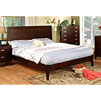 247SHOPATHOME Idf-7910Q Bed-Frames, Queen, Cherry