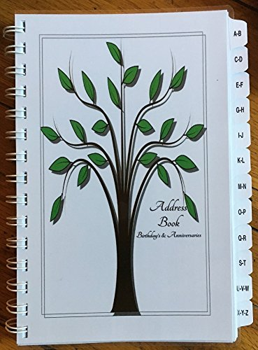 Family Address Book - LARGE PRINT Address Book with Tabs Birthday Anniversary Calendar Family Record Keeper Tree Personalized Gifts