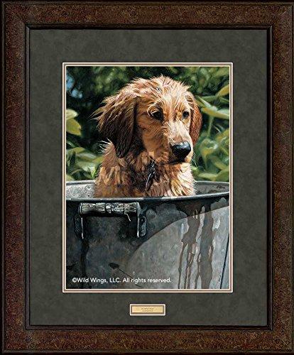 Golden Retriever Puppy Framed - Puppy Stew - Golden Retriever GNA Premium+ Framed Print