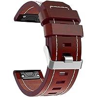 Cooljun pour Garmin Fenix 5X/5X Plus, Bracelet de Montre en Cuir Bretelles Bracelet
