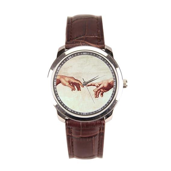 Inoxidable relojes creación de Adam famosos pinturas Hombres Relojes de pulsera.: Amazon.es: Relojes