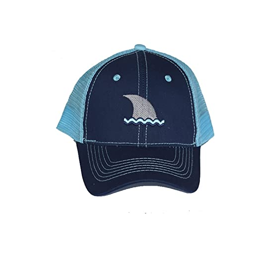 6541227b1 Amazon.com: Light Blue and Navy Trucker Hat Two Tone Cotton and Mesh ...