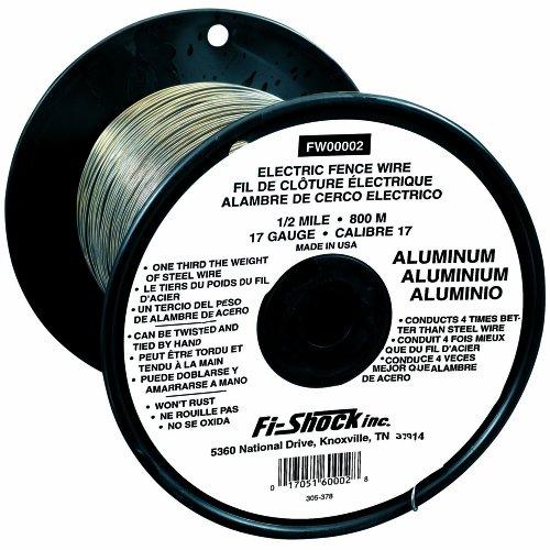 Fi-Shock FW-00002 1/2 Mile, 17 Gauge Spool Aluminum Wire (Wire Aluminum Fi Shock)