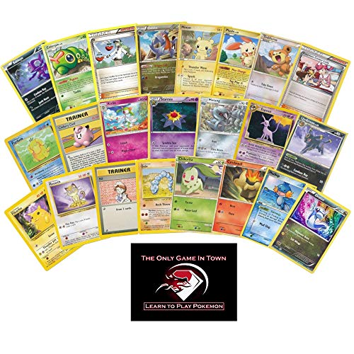 100 Pokemon Beginner's Starter Set with Learn to Play Pokemon Instructions (Best Starter Pokemon In All Generations)