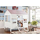 Major-Q Spring Cottage Full Sized Bed (White & Pink)