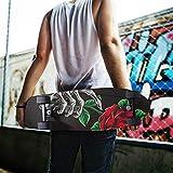 Skull Skeleton Rose Flower Skateboard Grip Tape