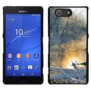 LECELL--Funda protectora / Cubierta / Piel For Sony Xperia Z3 Compact -- Paisaje de invierno --